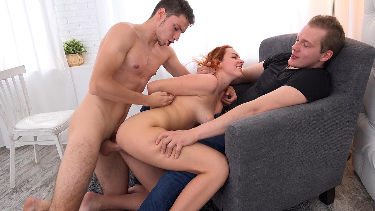 Fucked on her boyfriend's lap