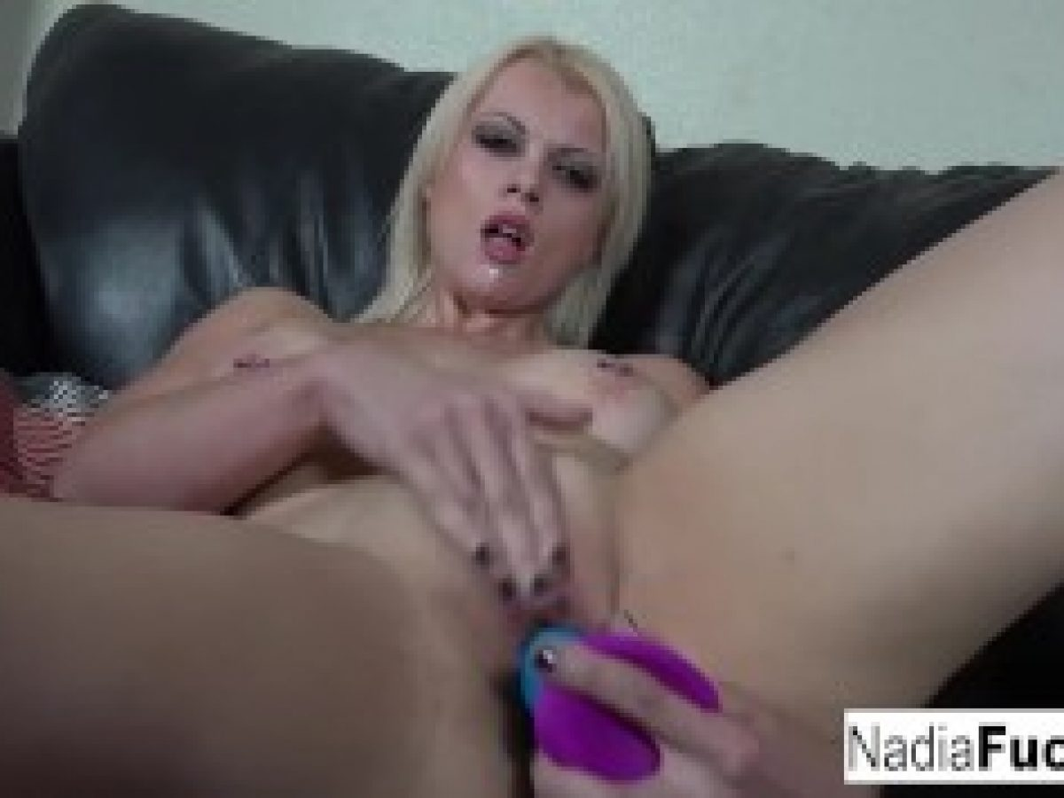 Busty Nadia Stuffs Her Tight Pussy With A Rainbow Dildo Sex Film
